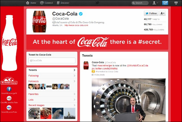 cocacola_new_twitter Twitter Brand Pages: Benefits & Tips