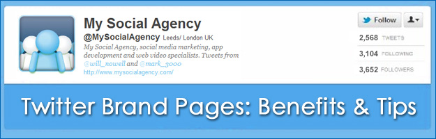 Twitter Brand Pages: My Social Agency
