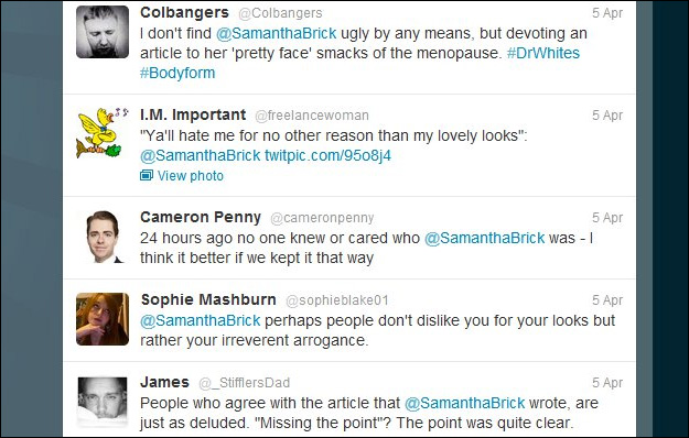 samantha_brick_twitter How Not to Drive Traffic to Your Site