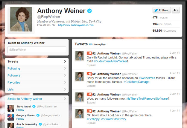 anthony_weiner The Most Embarrassing Celebrity Twitter Gaffes