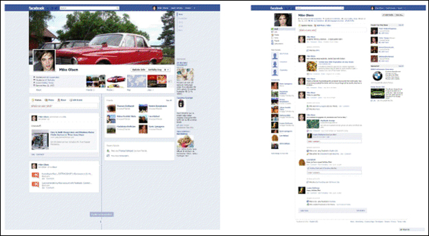facebook_timeline_vs_old_profile_wall Timeline Makes Its Presence Known