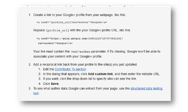 google authorship instructions