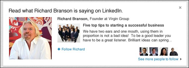richard-branson-linked-in LinkedIn Unveils Revamped Company Pages and New Content Feature