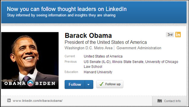 obama linked in influencer
