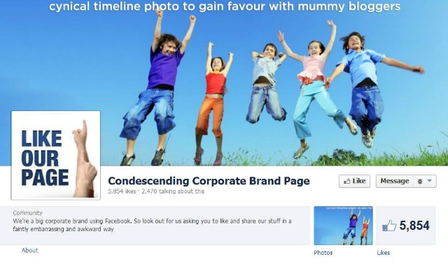 condesending-brand-page Lessons from Facebook 2012 - Best and Worst