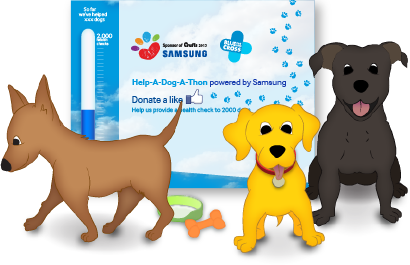 Samsung: Help-A-Dog-A-Thon - Example Work
