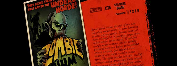 zombie Useful Tools for Populating Your Design With Sample Content