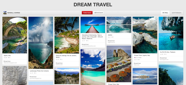 Pinterest-Travel How to Make Pinterest a Key Part of Your Social Media Strategy