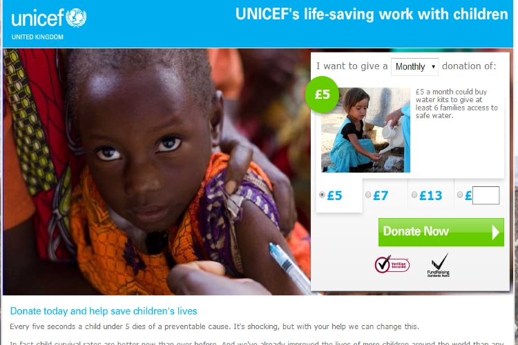 unicef How to Increase Conversion Rate Through the Use of Images