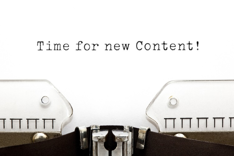 bigstock-Time-For-New-Content-Typewrite-59001557-1 5 Ways to Boost your Content in 2015