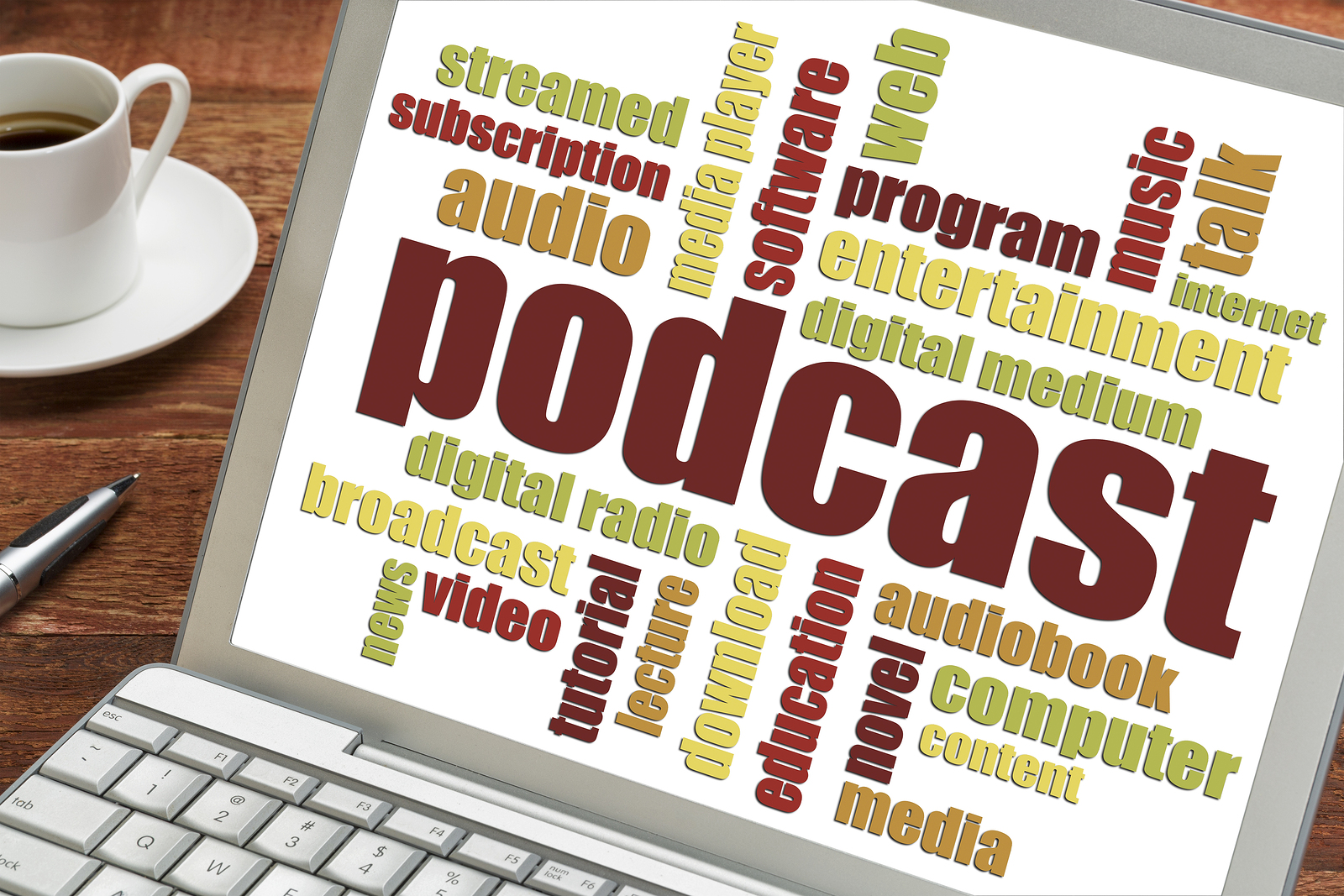 bigstock-podcast-word-cloud-on-a-laptop-93184640-1 Podcasts – What Are They and Why Should You Have one?
