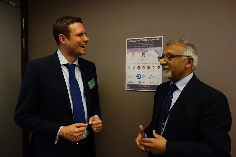 Mark-Mitchell-My-Social-Agency-and-Amjad-Bashir-MEP The Digital Skills Gap in Leeds Addressed by MSA at EU Parliament