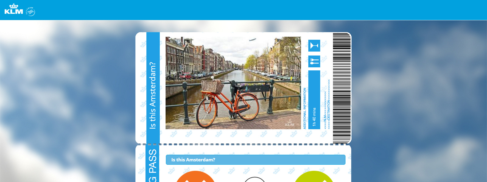 KLM: Fly Local - Example Work