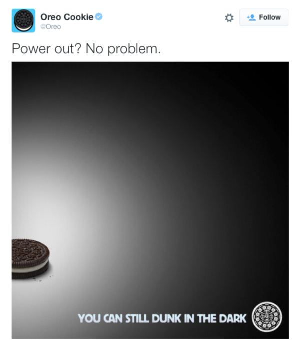 Oreo-tweet The Most Shareable Ads Of Super Bowl L, 2016