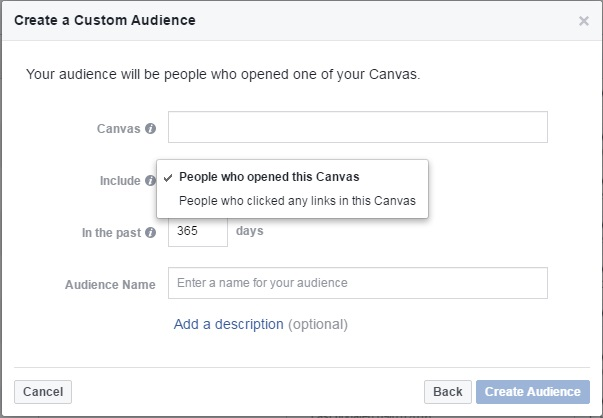 CreateACustomAudiencePeopleWhoOpenedThisCanvas Ads, Ads, Ads, Ads! – Your Digital Marketing Weekly Roundup