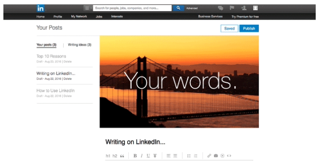 linkedIn-publishing-experience New Business Tools On Facebook and LinkedIn: Your Digital Marketing Weekly Roundup