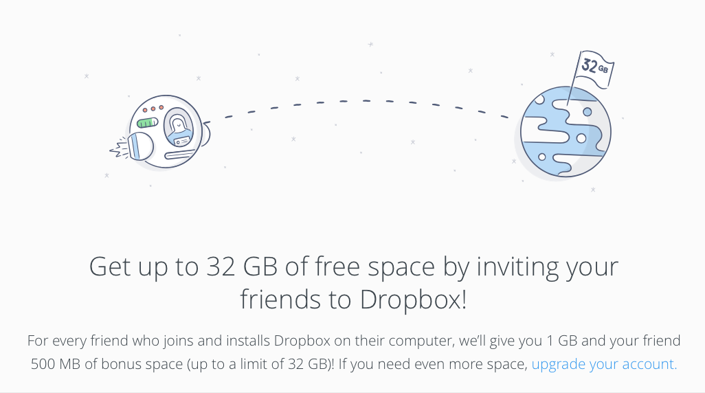 dropbox-sharing-incentive Growth Hacking Vs. Content Marketing – What's Your Tactic?