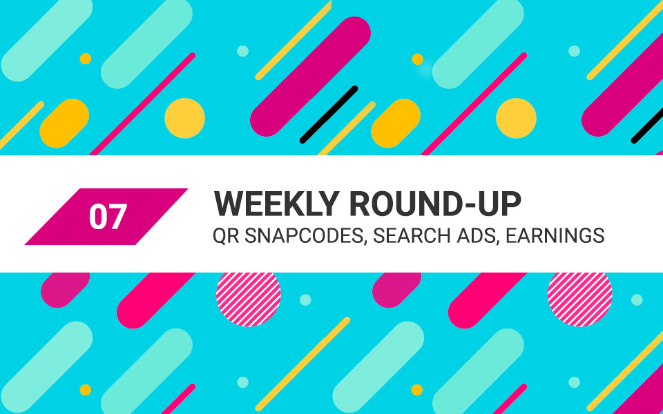 MSA-weekly-07 QR Snapcodes, Search Ads, Earnings – Your Digital Marketing Weekly Roundup