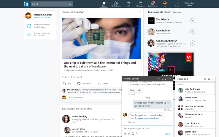 Linkedin-new-look Weekly Roundup: Improved Click-to-Call Features and 23 Search Statistics To Blow Your Mind