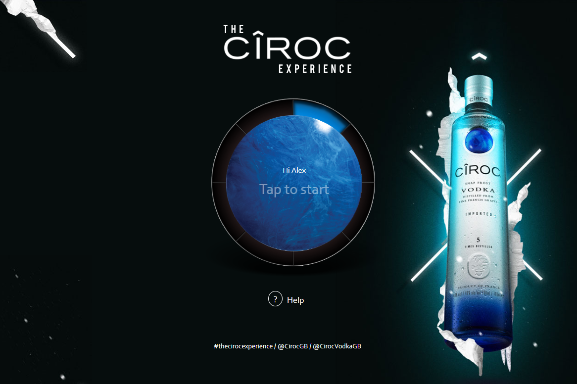 Ciroc: The Ciroc Experience - Example Work